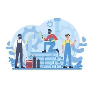 خدمات دهندگان آهن و فولاد