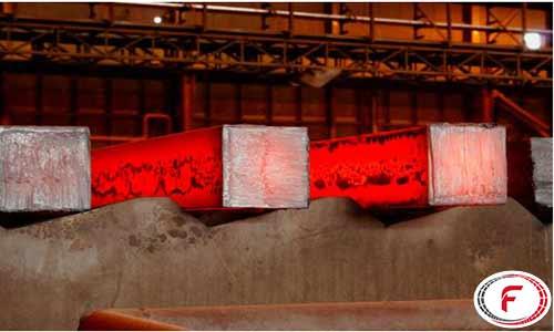 بیلت تولید شده در شرکت فولاد خوزستان