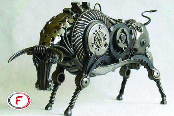 خلق اثر هنری با فلز بازیافتی