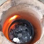 ذوب پول (1000 سکه) -تبدیل سکه به شمش