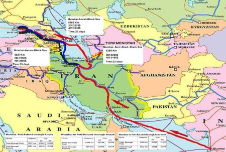 ایران، هند و افغانستان اتحادیه ترانزیت منطقه ای نیاز دارند.
